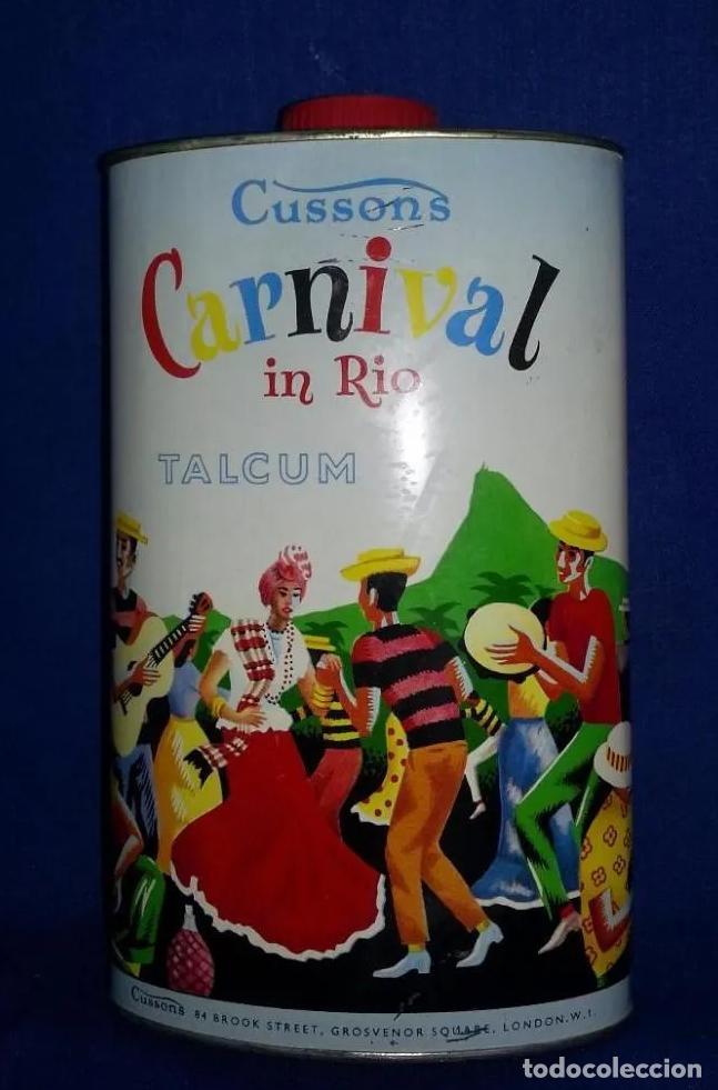 == EH01 - BOTE METALICO DE POLVOS DE TALCO CARNIVAL IN RIO - CUSSONS (Antigüedades - Varios)