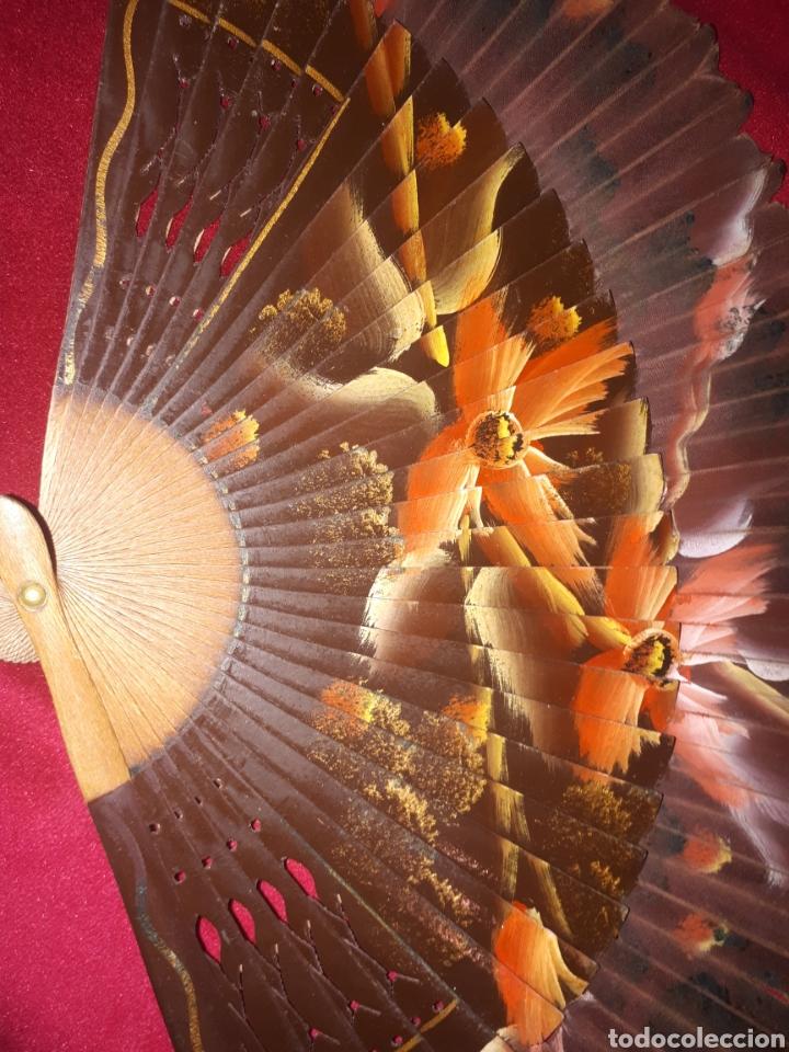Antigüedades: Antiguo abanico pintado a mano - Foto 6 - 183609815