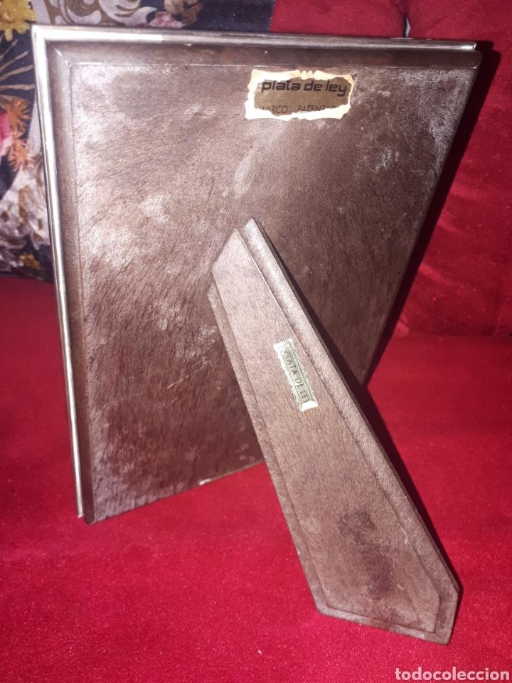 Antigüedades: Portafoto de plata de ley - Foto 3 - 183611692