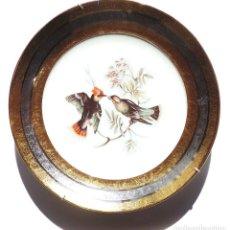 Antigüedades: PLATO EN CERÁMICA RECUMAR. ESPAÑA. PLATA Y ORO. 28 CM DE DIÁMETRO. Lote 183614166