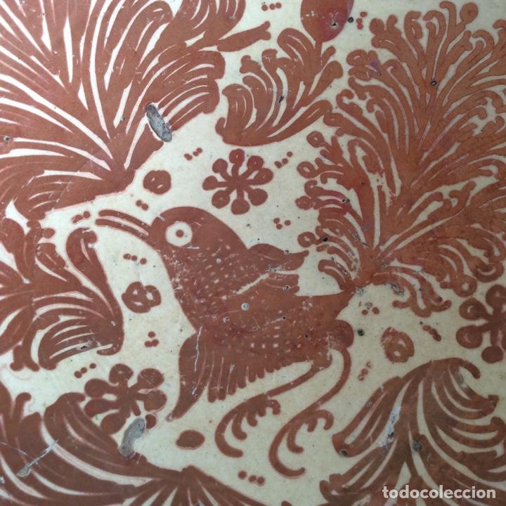 Antigüedades: Manises siglo XVIII Reflejo metálico o lustre - Foto 6 - 183618191