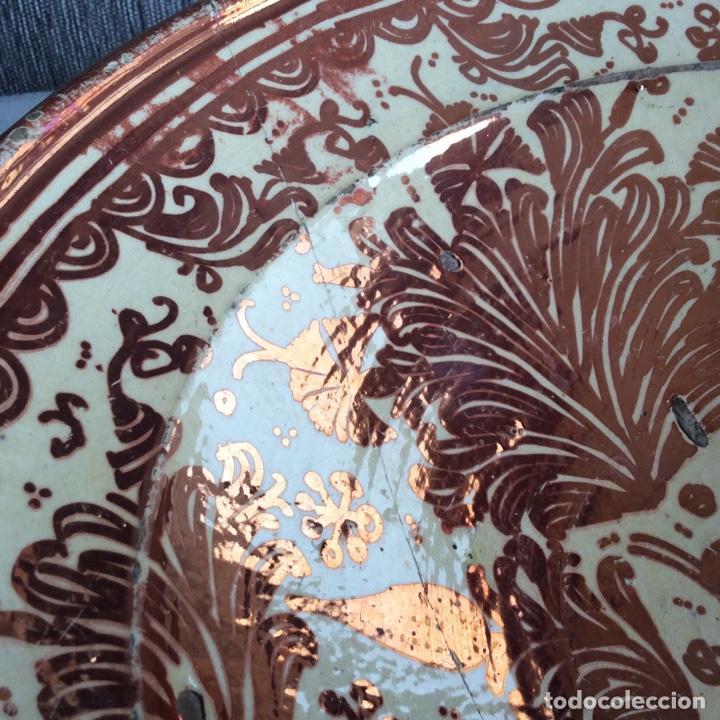 Antigüedades: Manises siglo XVIII Reflejo metálico o lustre - Foto 7 - 183618191