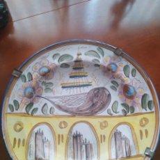 Antigüedades: RIBESALBES, ROTUNDO PLATO HONDO SÍGLO XIX 34 CM DIÁMETRO, PERFECTO. Lote 183623946