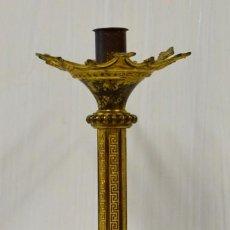 Antigüedades: ANTIGUO CANDELABRO, APLIQUE, CIRIAL DE BRONCE DORADO AL MERCURIO NEOGÓTICO. XIX. 53 CM DE ALTO.. Lote 182570633