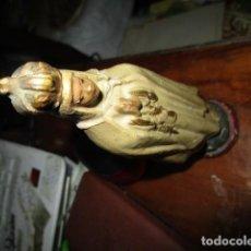 Antigüedades: ANTIGUA FIGURA TERRACOTA VIRGEN CABEZA RESTAURADA. Lote 183627280