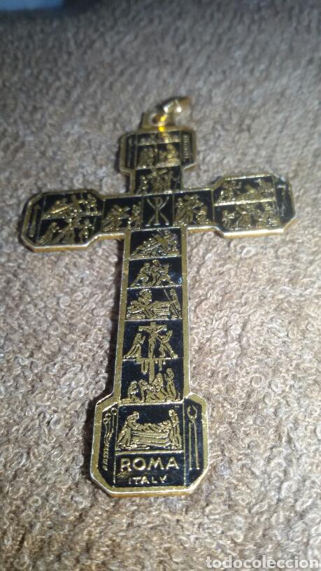 Antigüedades: Cruz de chapa y el cristo de metal - Foto 7 - 183634128