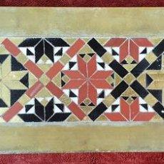 Antigüedades: AZULEJO. CENEFA DE MICROMOSAICO SOBRE MÁRMOL. ESPAÑA. SIGLO XIX-XX. . Lote 183642587