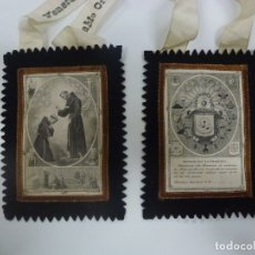 Antigüedades: ESCAPULARIO. VENERABLE ORDEN TERCERA DE N. S. P. SAN FRANCISCO. . Lote 183646576