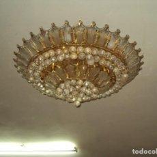 Antigüedades: IMPRESIONANTES!! 3 LAMPARAS RETRO SWAROVSKI ENORMES VERRR. Lote 183654021