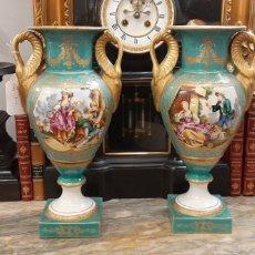Antigüedades: PAREJA DE JARRONES IMPERIO. Lote 183656793