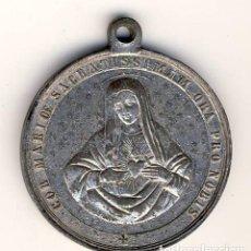 Antigüedades: INMACULADO CORAZÓN DE MARÍA.- METAL.- 33 MM.-. Lote 183658912