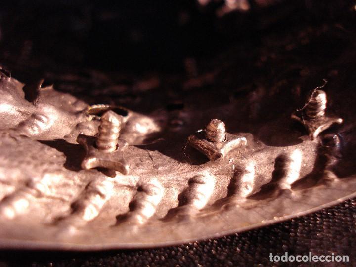 Antigüedades: MAGISTRAL CORONA DE PLATA CON CABUJONES SXVIII SXIX GRANDES MEDIDAS - Foto 10 - 183660186