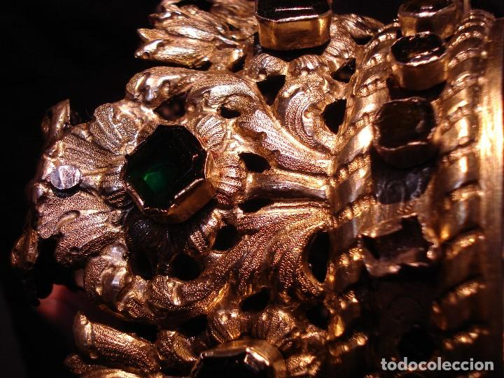 Antigüedades: MAGISTRAL CORONA DE PLATA CON CABUJONES SXVIII SXIX GRANDES MEDIDAS - Foto 12 - 183660186