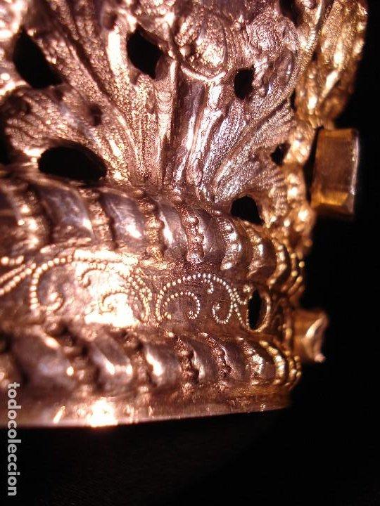 Antigüedades: MAGISTRAL CORONA DE PLATA CON CABUJONES SXVIII SXIX GRANDES MEDIDAS - Foto 14 - 183660186