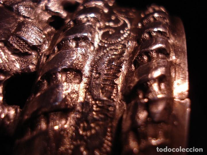 Antigüedades: MAGISTRAL CORONA DE PLATA CON CABUJONES SXVIII SXIX GRANDES MEDIDAS - Foto 15 - 183660186