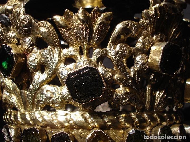 Antigüedades: MAGISTRAL CORONA DE PLATA CON CABUJONES SXVIII SXIX GRANDES MEDIDAS - Foto 30 - 183660186