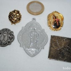 Antigüedades: MEDALLAS RELIGIOSAS VARIADAS . Lote 183672063