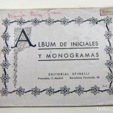 Antiguidades: ANTIGUO ALBUM DE INICIALES, MONOGRAMAS Y ESCUDOS EDITORIAL SPINELLI. Lote 183674352
