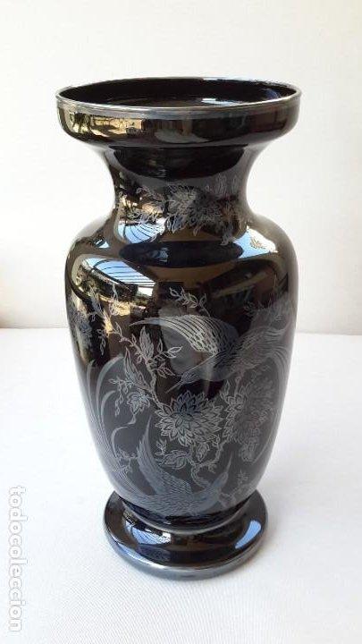 Antigüedades: Jarrón de porcelana y plata - Foto 2 - 183675718