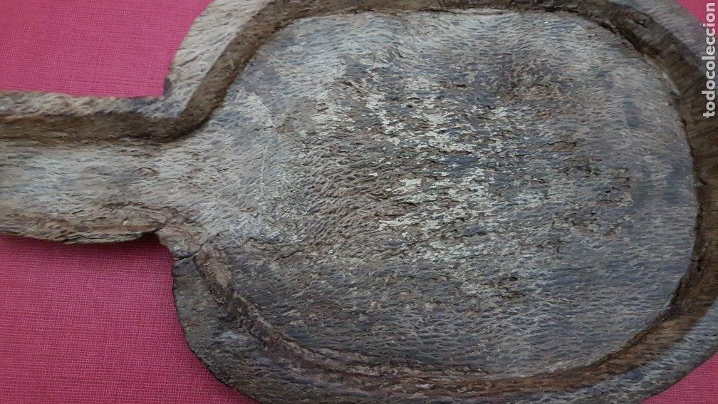Antigüedades: Antiguo tresviso quesera artesanal madera de encina - Foto 2 - 183701071