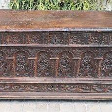 Antigüedades: ARCA / ARCÓN CATALÁN. MADERA DE NOGAL. ESTILO BERGEDANA. ESPAÑA. SIGLO XVVII - XVIII.. Lote 183701685