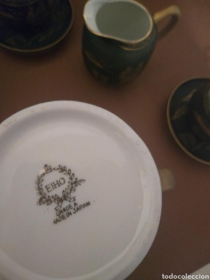 Antigüedades: Juego Café Eiho Negro Dorado - Foto 5 - 183702615