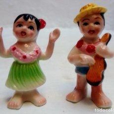 Antigüedades: PAREJA DE PORCELANA CHINA , LOS HAWAIANOS . Lote 183707825