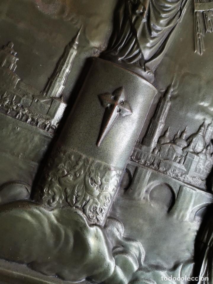 Antigüedades: CUADRO RELIEVE PLACA DE COBRE REPUJADA Ntra. Sra. DEL PILAR. PILARICA. ZARAGOZA.SIGLO XIX - Foto 16 - 183727737