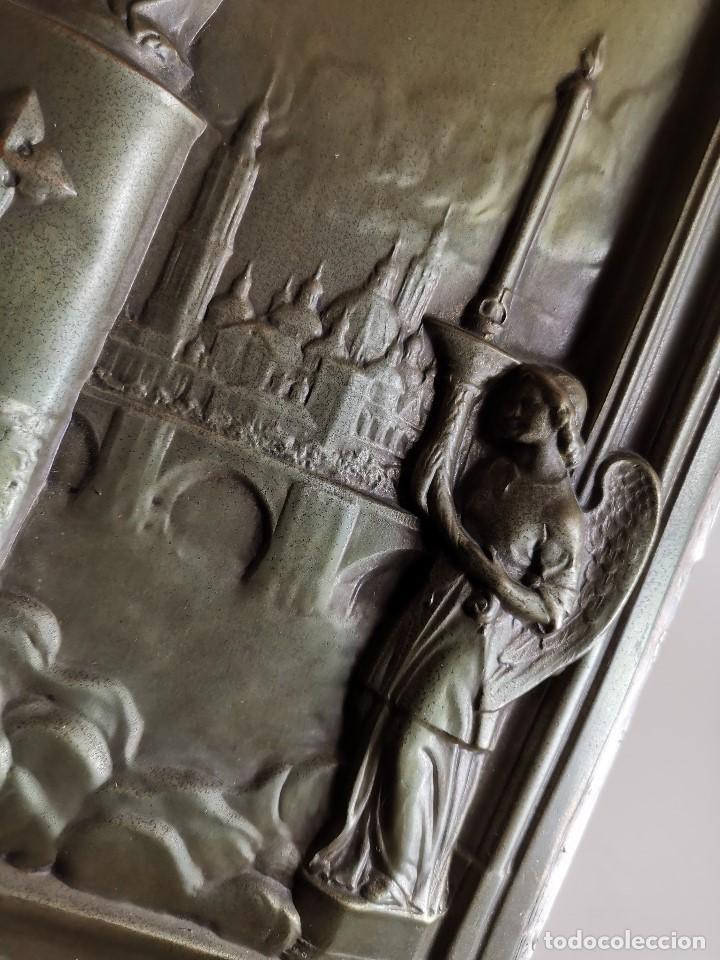 Antigüedades: CUADRO RELIEVE PLACA DE COBRE REPUJADA Ntra. Sra. DEL PILAR. PILARICA. ZARAGOZA.SIGLO XIX - Foto 17 - 183727737