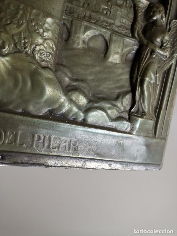 Antigüedades: CUADRO RELIEVE PLACA DE COBRE REPUJADA Ntra. Sra. DEL PILAR. PILARICA. ZARAGOZA.SIGLO XIX - Foto 18 - 183727737