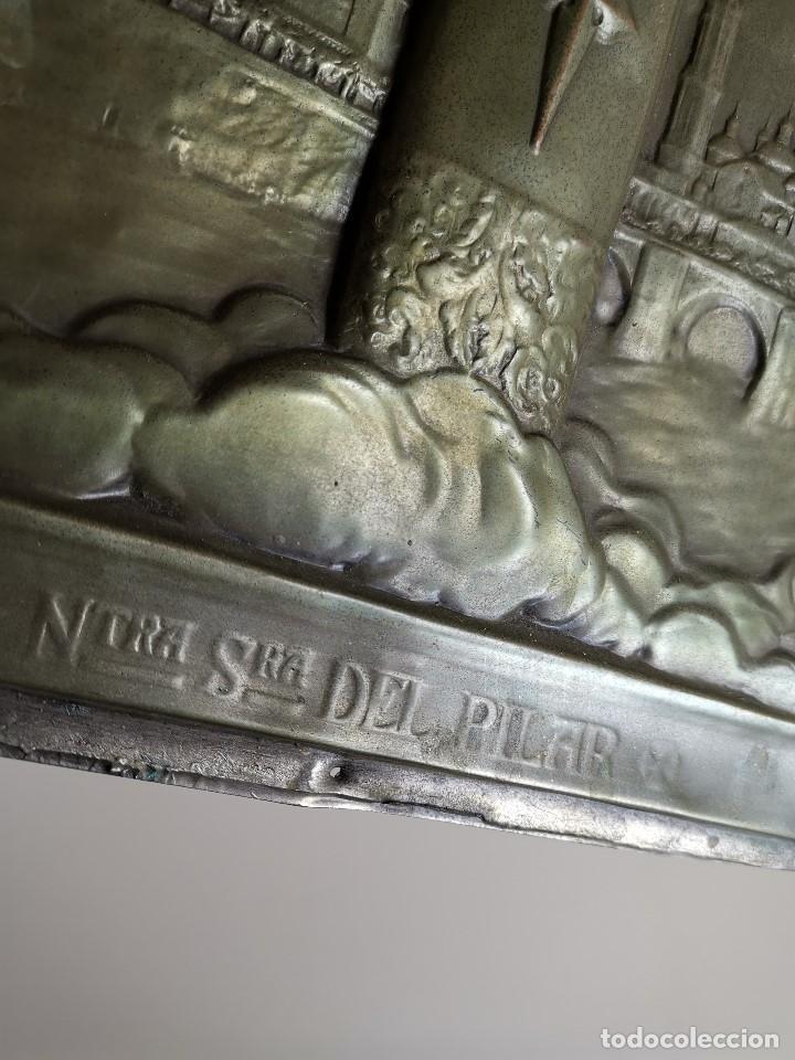 Antigüedades: CUADRO RELIEVE PLACA DE COBRE REPUJADA Ntra. Sra. DEL PILAR. PILARICA. ZARAGOZA.SIGLO XIX - Foto 19 - 183727737
