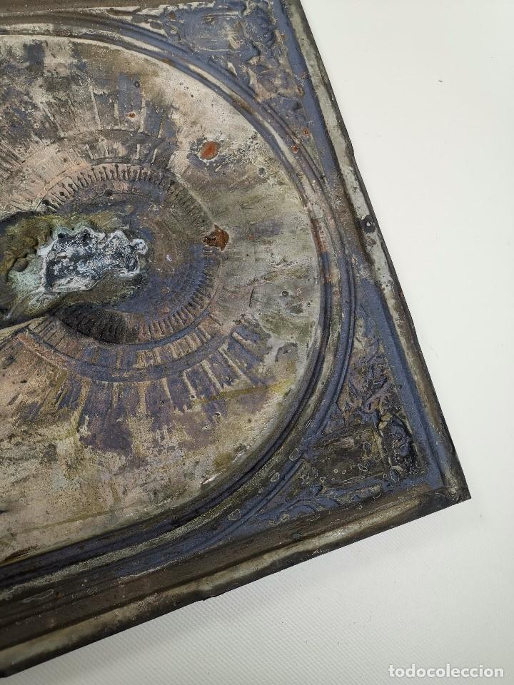 Antigüedades: CUADRO RELIEVE PLACA DE COBRE REPUJADA Ntra. Sra. DEL PILAR. PILARICA. ZARAGOZA.SIGLO XIX - Foto 23 - 183727737