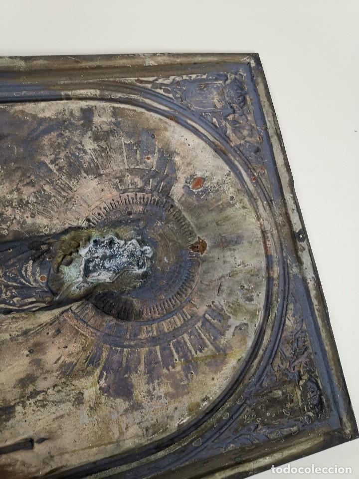 Antigüedades: CUADRO RELIEVE PLACA DE COBRE REPUJADA Ntra. Sra. DEL PILAR. PILARICA. ZARAGOZA.SIGLO XIX - Foto 24 - 183727737