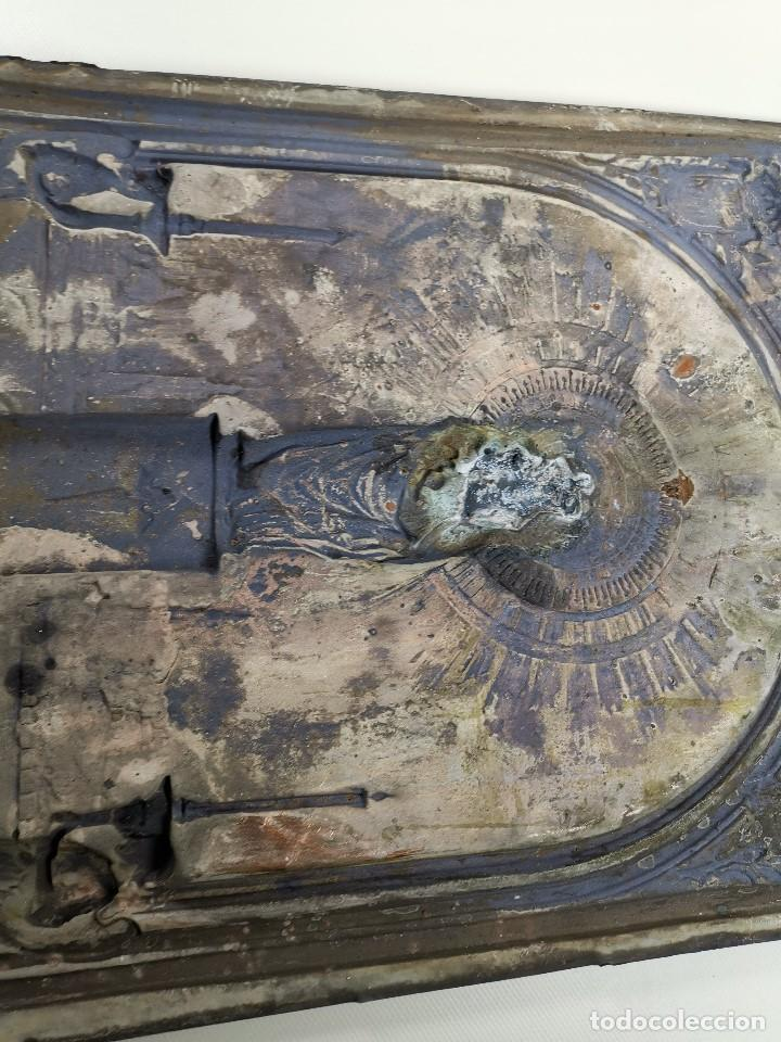 Antigüedades: CUADRO RELIEVE PLACA DE COBRE REPUJADA Ntra. Sra. DEL PILAR. PILARICA. ZARAGOZA.SIGLO XIX - Foto 25 - 183727737