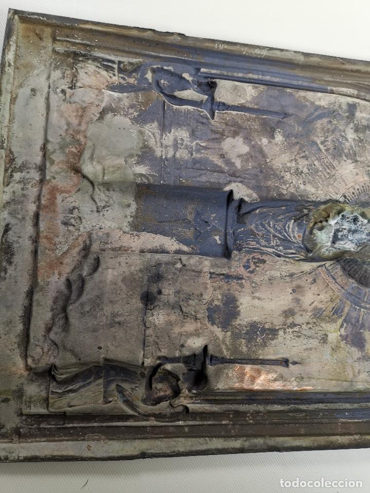 Antigüedades: CUADRO RELIEVE PLACA DE COBRE REPUJADA Ntra. Sra. DEL PILAR. PILARICA. ZARAGOZA.SIGLO XIX - Foto 26 - 183727737