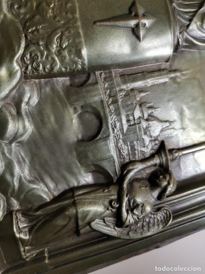 Antigüedades: CUADRO RELIEVE PLACA DE COBRE REPUJADA Ntra. Sra. DEL PILAR. PILARICA. ZARAGOZA.SIGLO XIX - Foto 31 - 183727737