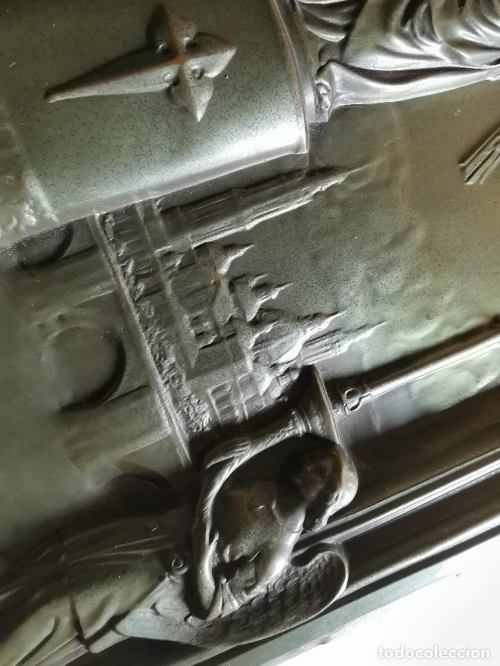 Antigüedades: CUADRO RELIEVE PLACA DE COBRE REPUJADA Ntra. Sra. DEL PILAR. PILARICA. ZARAGOZA.SIGLO XIX - Foto 36 - 183727737