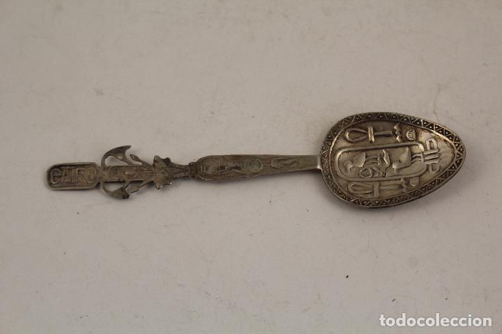 Antigüedades: cuchara ejipto en plata de ley 925 - Foto 4 - 183758235