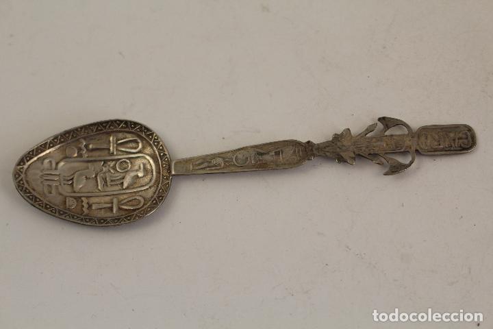 Antigüedades: cuchara ejipto en plata de ley 925 - Foto 5 - 183758235