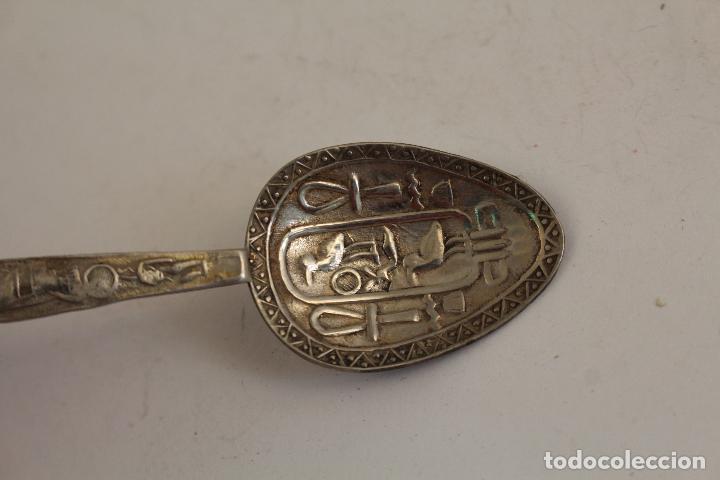 Antigüedades: cuchara ejipto en plata de ley 925 - Foto 7 - 183758235