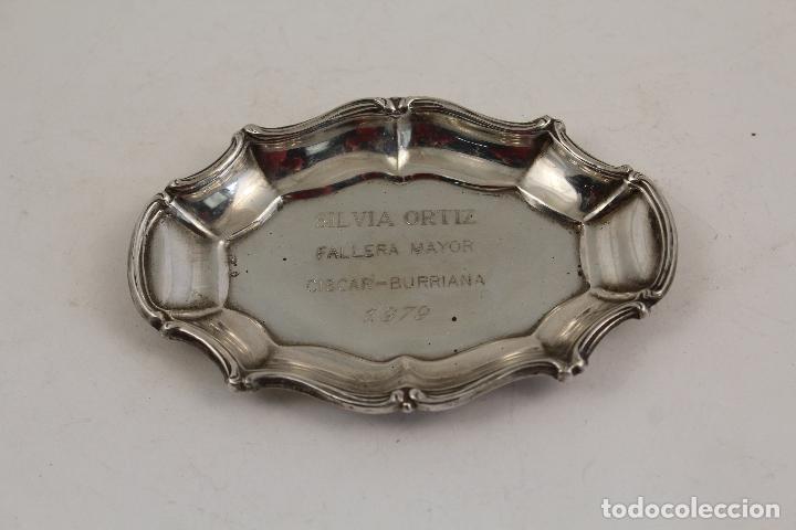 Antigüedades: bandeja en plata de ley 925 - Foto 4 - 183761952