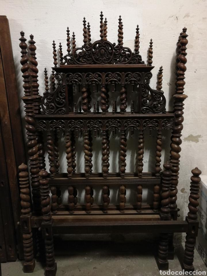 Antigüedades: Cama de casa palacio siglo XIX - Foto 6 - 105327740