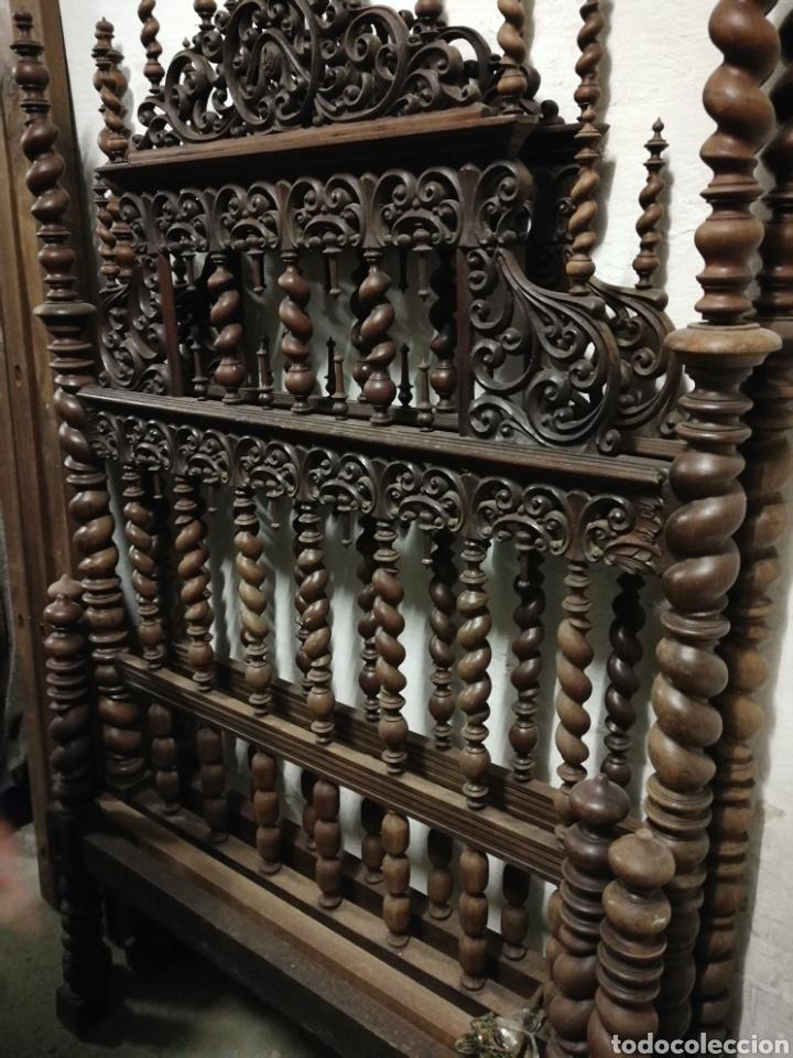 Antigüedades: Cama de casa palacio siglo XIX - Foto 9 - 105327740