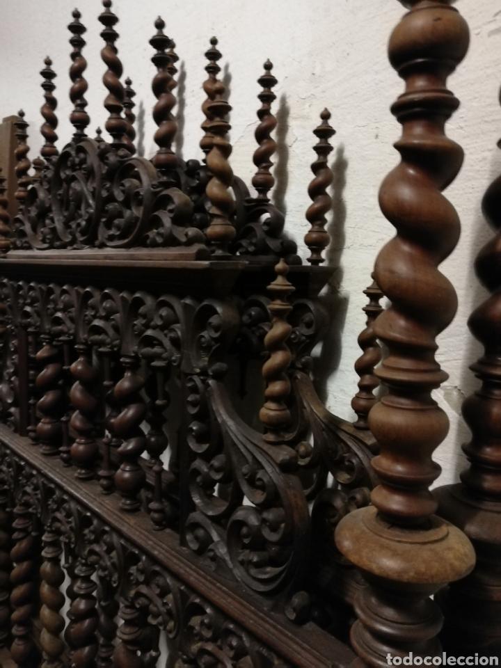 Antigüedades: Cama de casa palacio siglo XIX - Foto 13 - 105327740