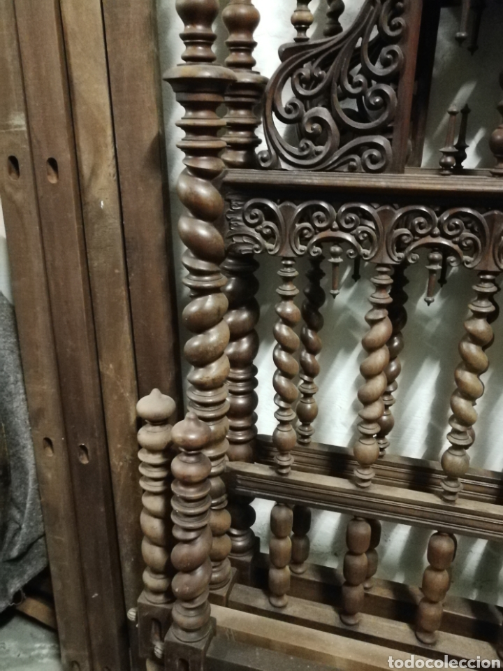 Antigüedades: Cama de casa palacio siglo XIX - Foto 14 - 105327740