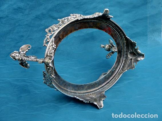 Antigüedades: PRECIOSO CENTRO DE MESA MODERNISTA - WMF - JARDINERA - METAL PLATEADO Y CRISTAL PINTADO - ÁNGELES - Foto 21 - 183767626