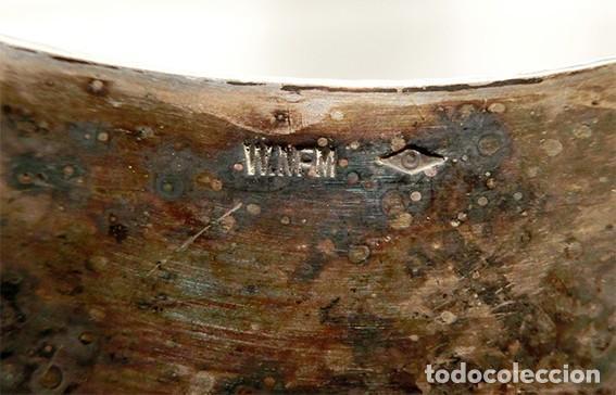 Antigüedades: PRECIOSO CENTRO DE MESA MODERNISTA - WMF - JARDINERA - METAL PLATEADO Y CRISTAL PINTADO - ÁNGELES - Foto 30 - 183767626