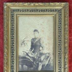 Antigüedades: MARCO PARA FOTOGRAFÍAS. MADERA TALLADA. MARQUETERIA DE MADERA. SIGLO XIX-XX. . Lote 183768693