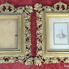 Antigüedades: PAREJA DE MARCOS. MADERA Y ESTUCO DORADOS. PRINCIPIOS SIGLO XX. . Lote 183770387