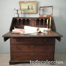 Antigüedades: ANTIGUO BUREAU ESCRITORIO ABATIBLE DE ROBLE MACIZO ESTILO GEORGIANO INGLATERRA FINALES S XVIII. Lote 183770930